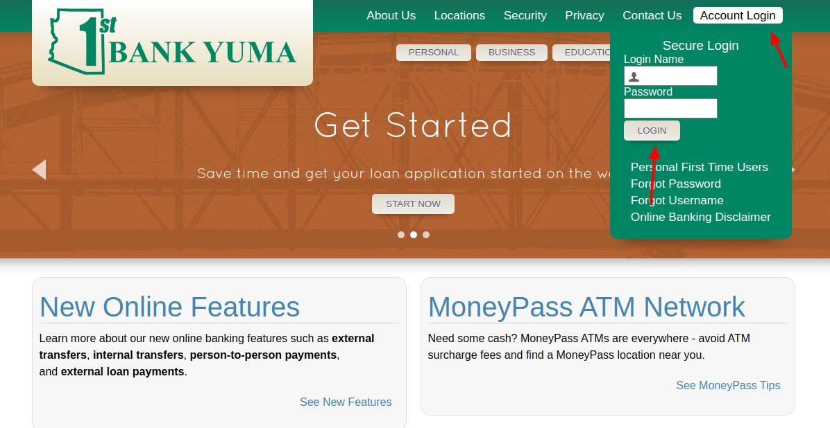1st Bank Yuma Login