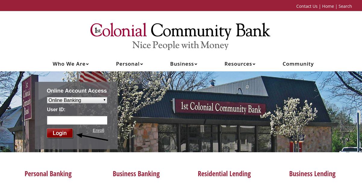 1st Colonial Community Bank Login