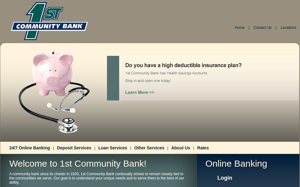 1st Community Bank Logo
