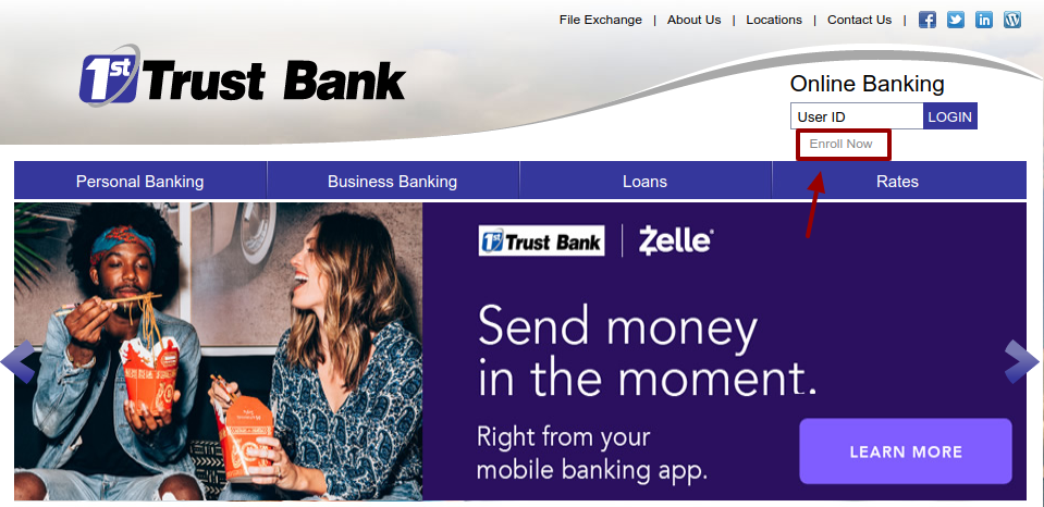 1st Trust Bank Enroll