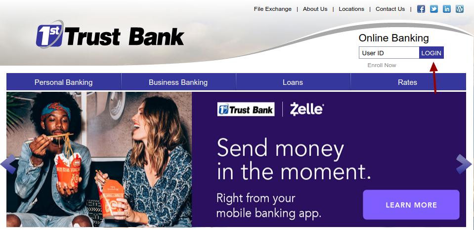 1st Trust Bank Login