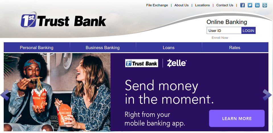 1st Trust Bank Logo