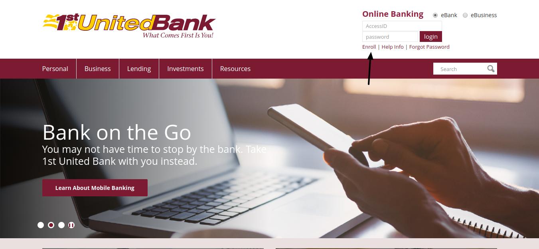 1st United Bank Enroll