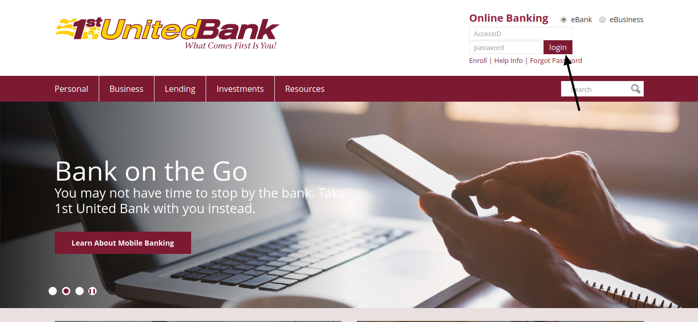 1st United Bank Login