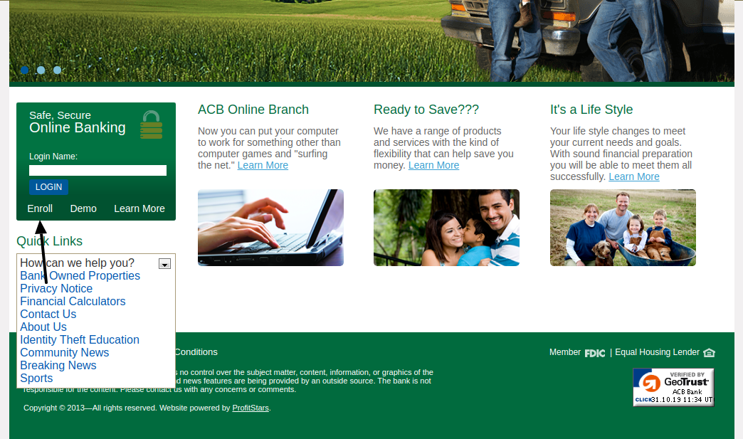 ACB Bank Enroll