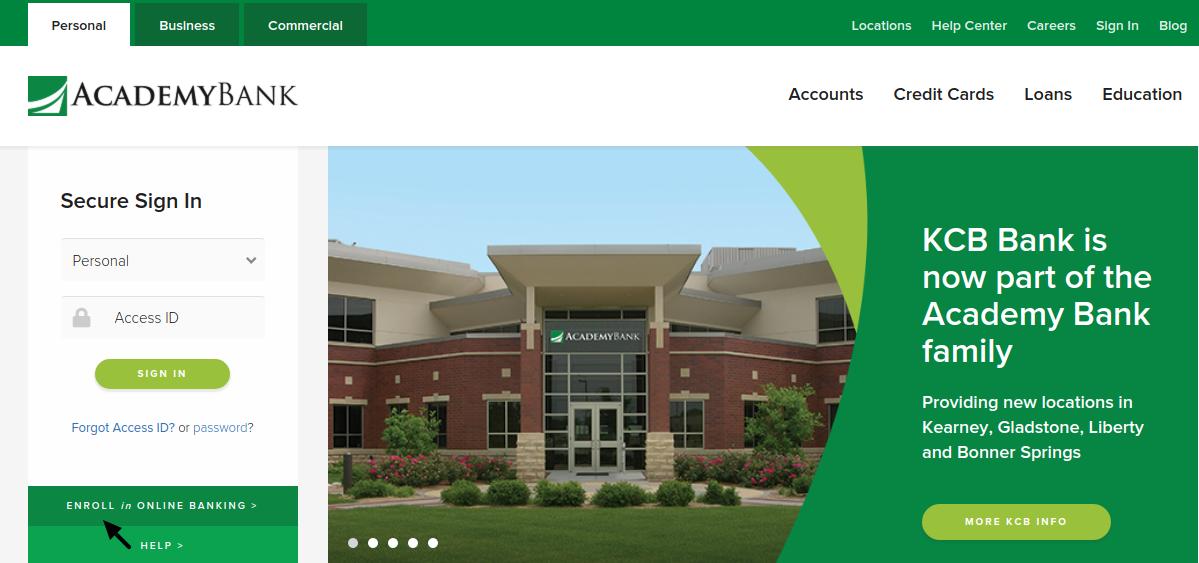 Academy Bank Enroll
