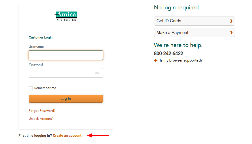 Amica Insurance Create Account