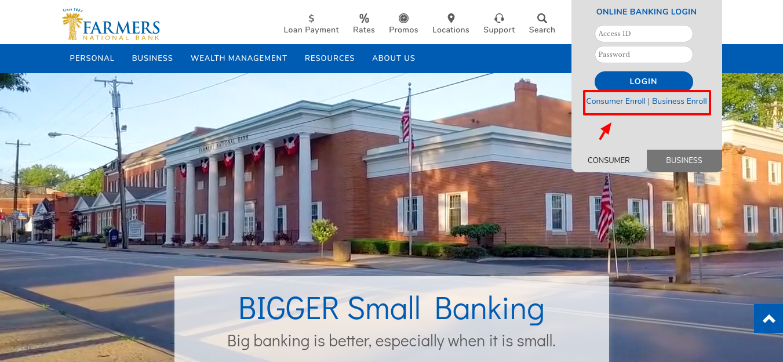 Farmers National Bank Enroll