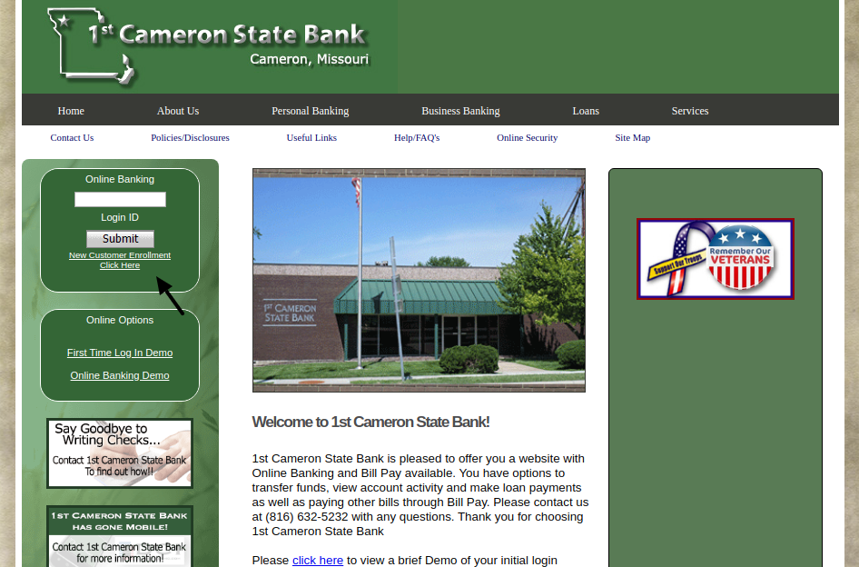First Cameron State Bank Enrollment