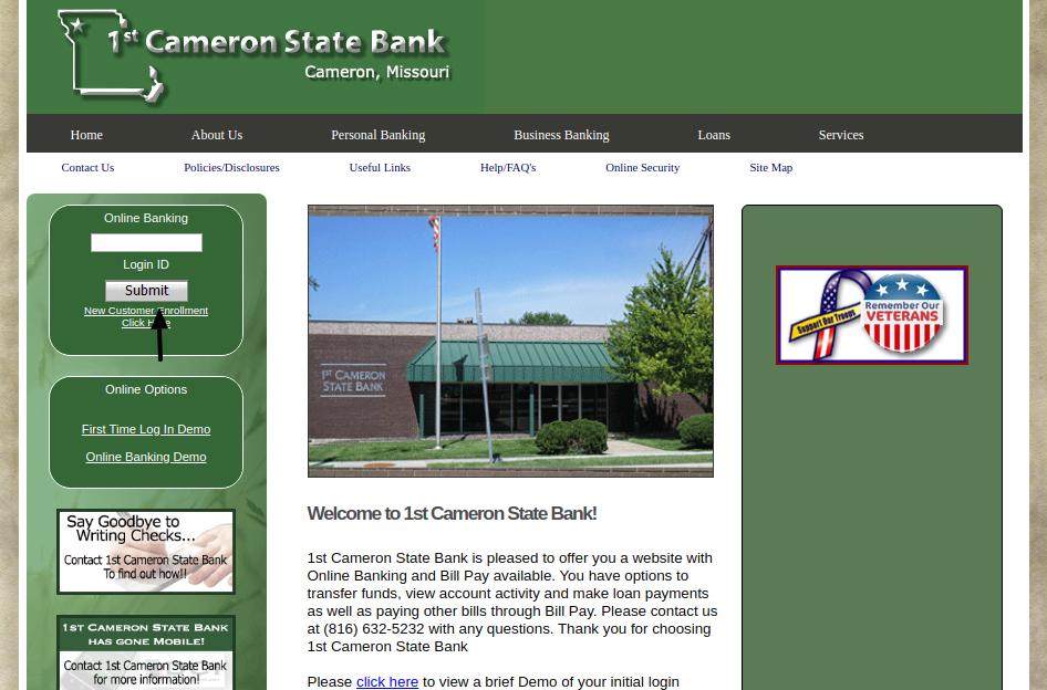 First Cameron State Bank Login