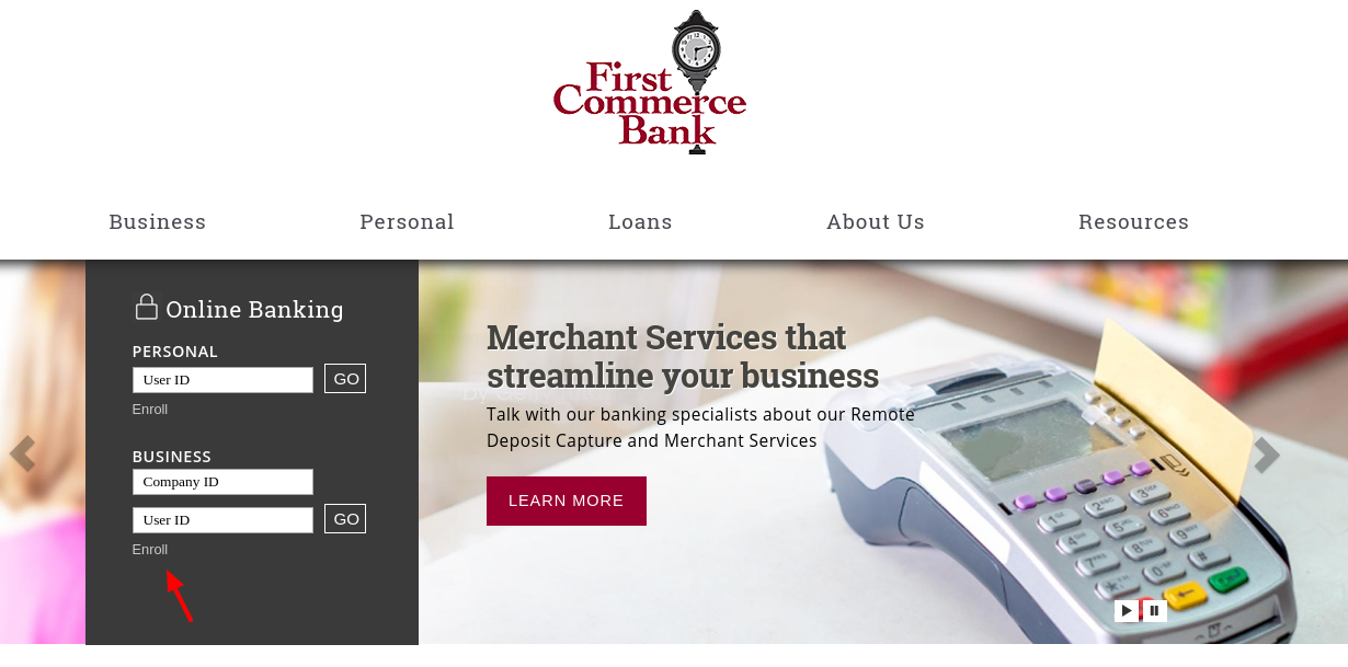First Commerce Bank Enroll