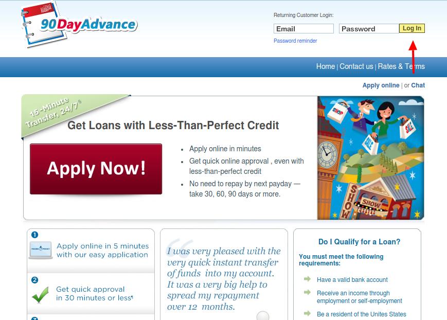 90 Day Loans Login