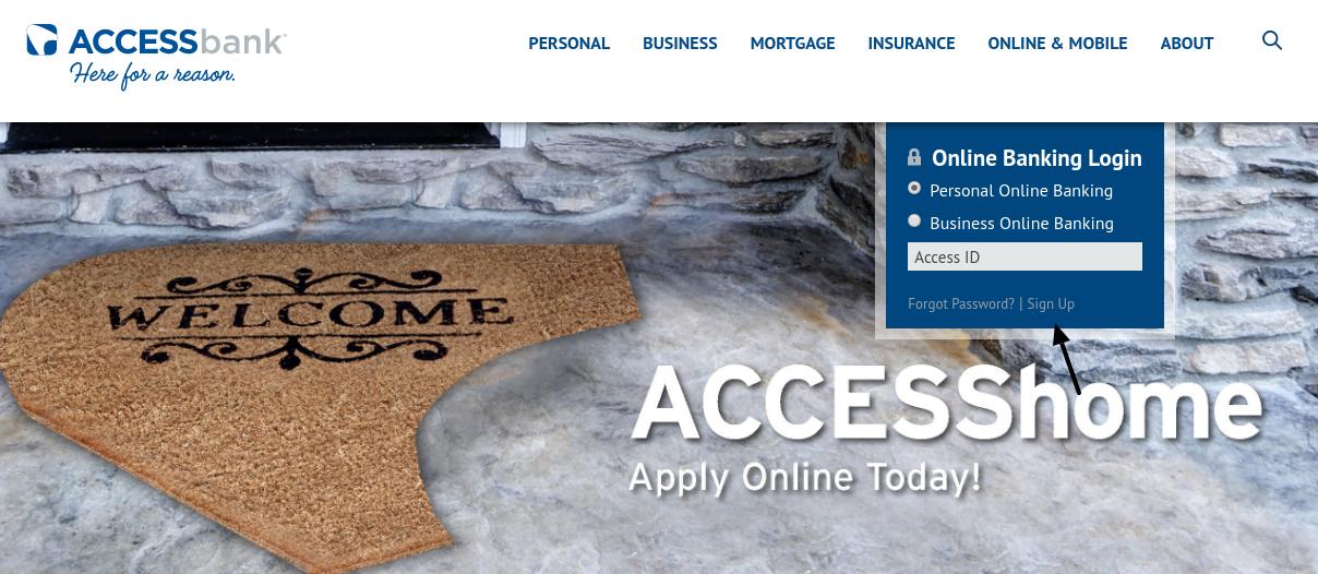 ACCESSbank Sign Up