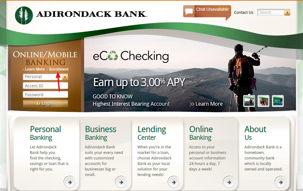 Adirondack Bank Enroll