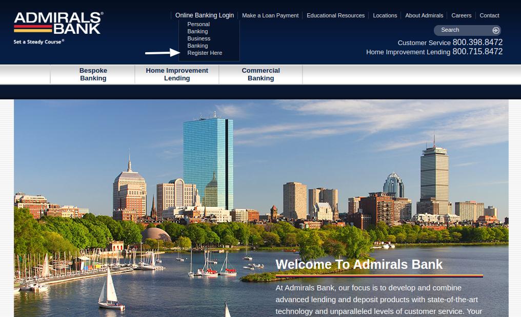Admirals Bank Register