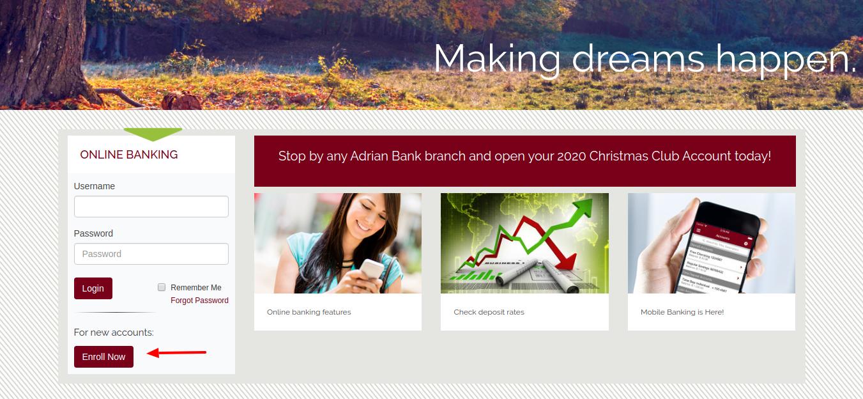 Adrian Bank Enroll