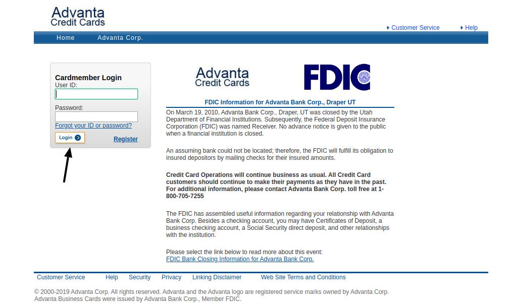 Advanta Bank Corp Login