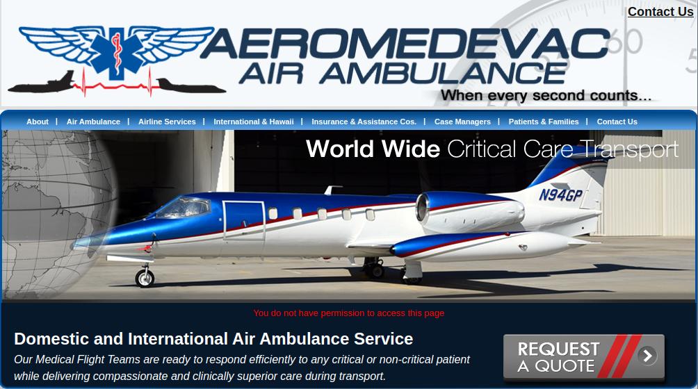 Aeromedevac Air Ambulance Logo