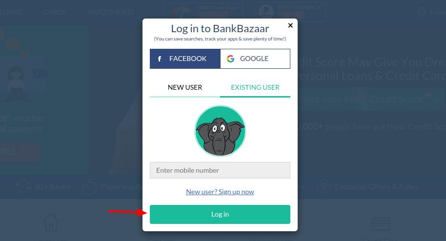 BankBazaar Login