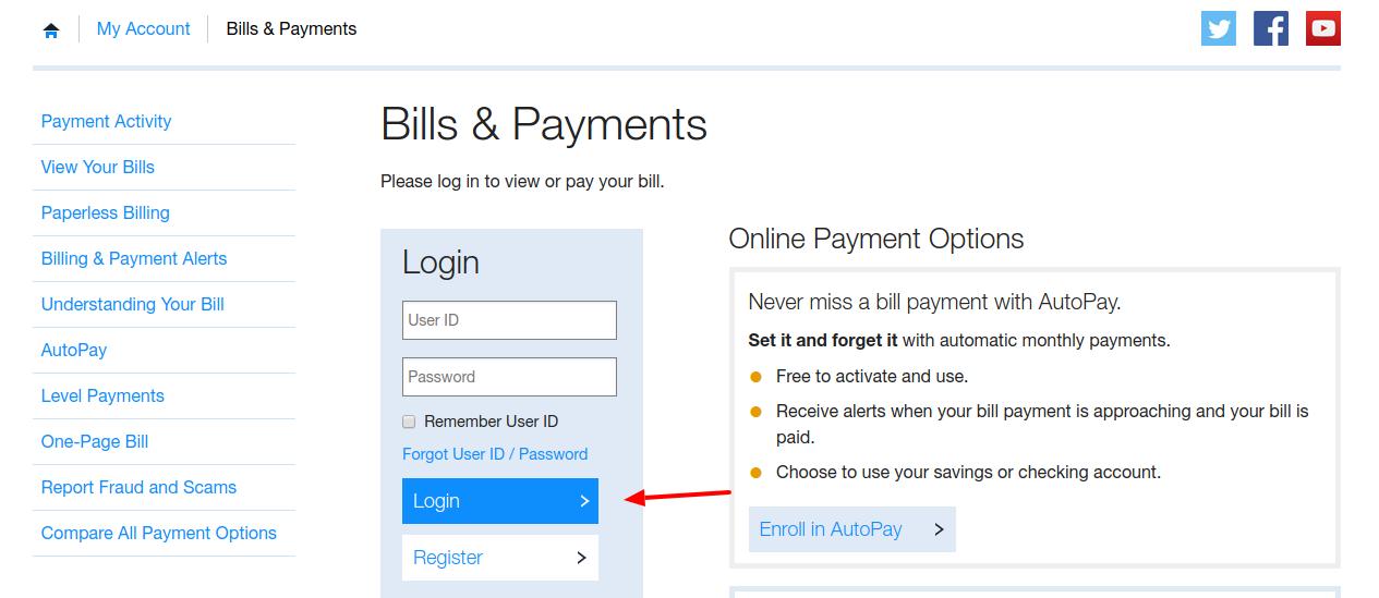 Bills Payments Login