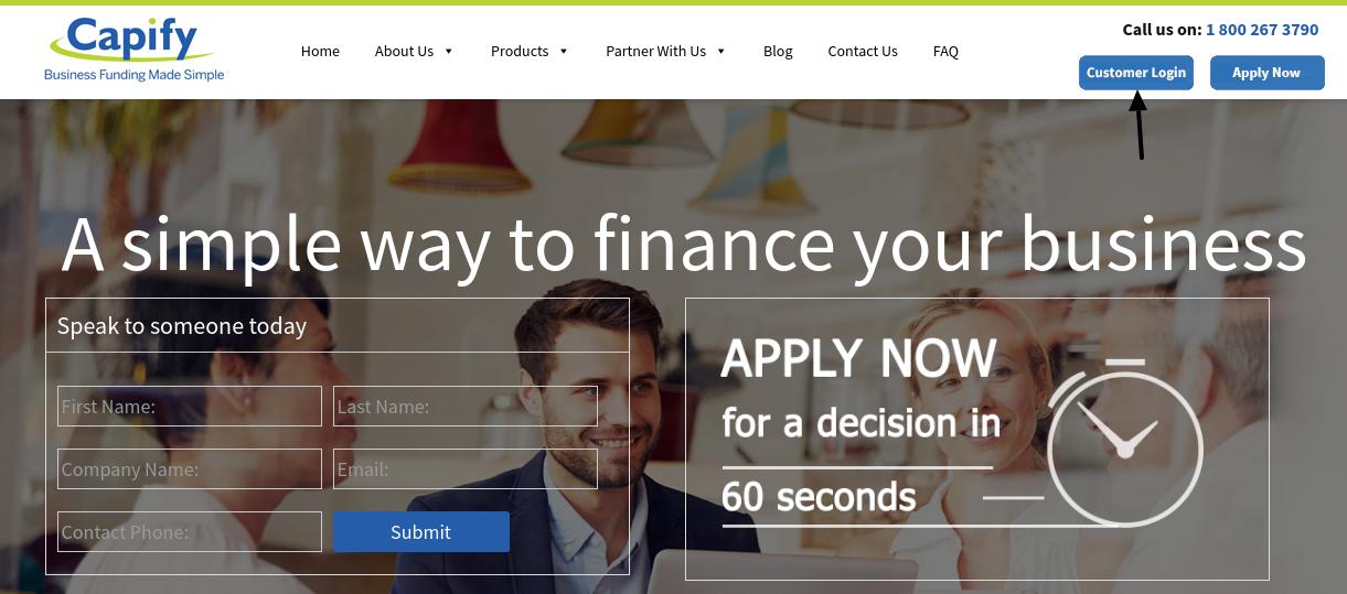 Capify Loan Login