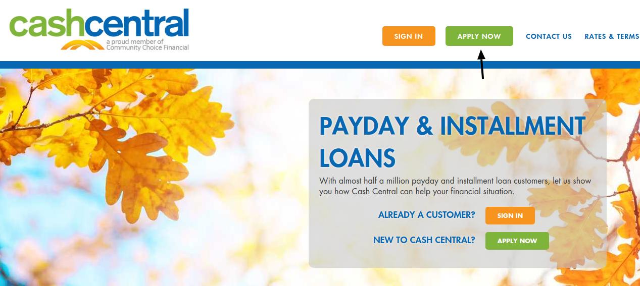 Cash Central Loan Apply