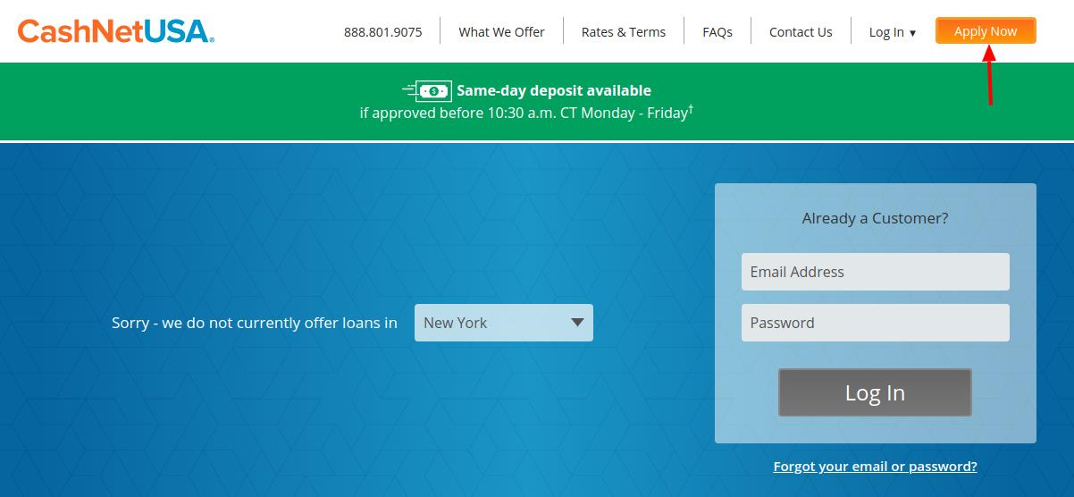 CashNetUSA Loan Apply