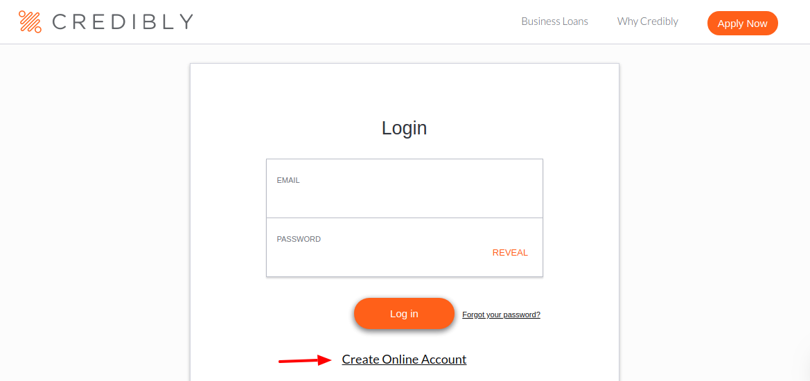 Credibly Create Account
