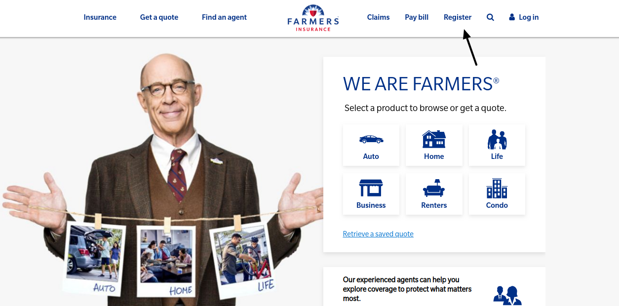 Farmers Insurance Register