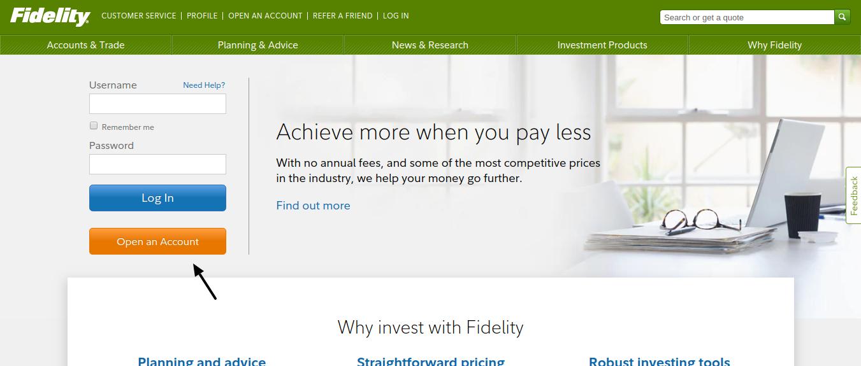 Fidelity Insurance Open Account