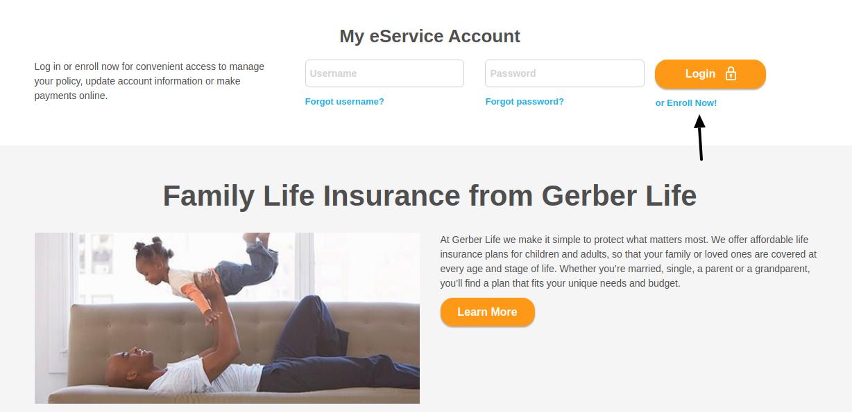 Gerber Life Insurance Enroll