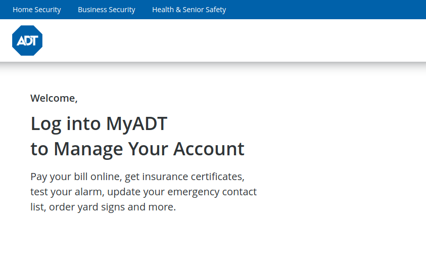 www.myadt.com - Pay Your ADT Bill Online
