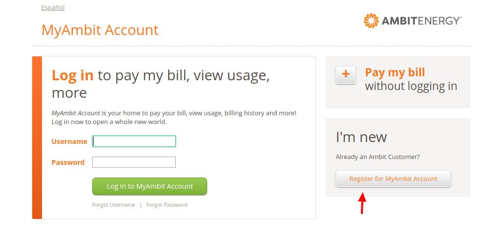 MyAmbit Account Register