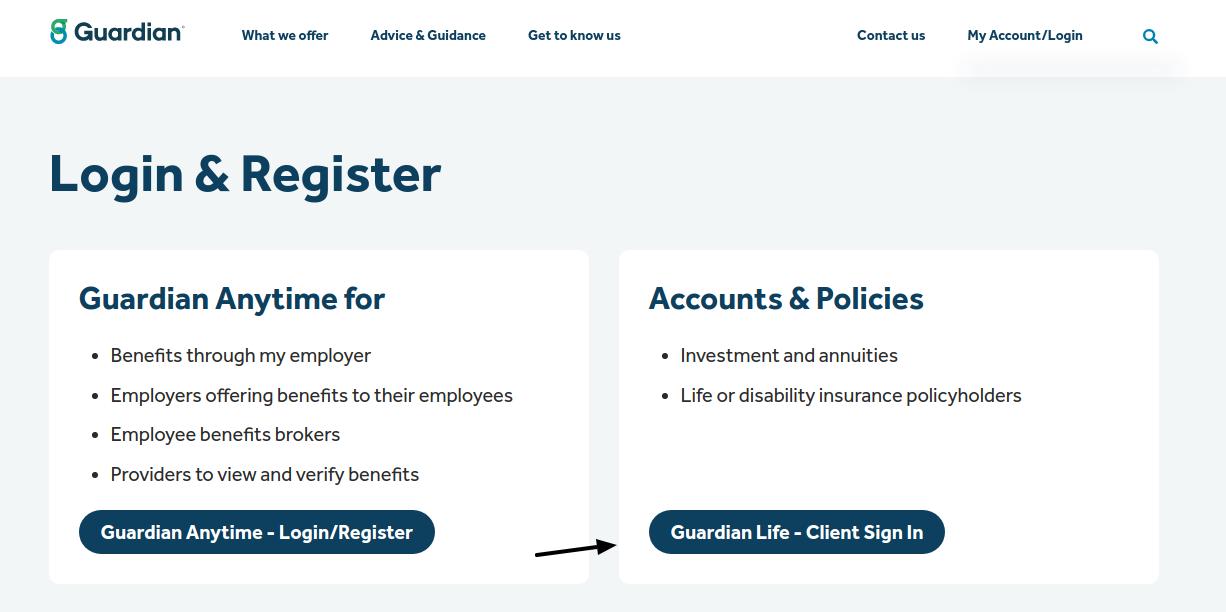 The Guardian Life Insurance Login