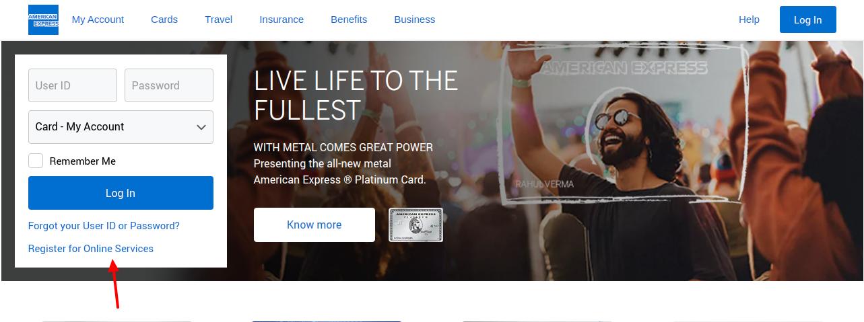 American Express Credit Card Register