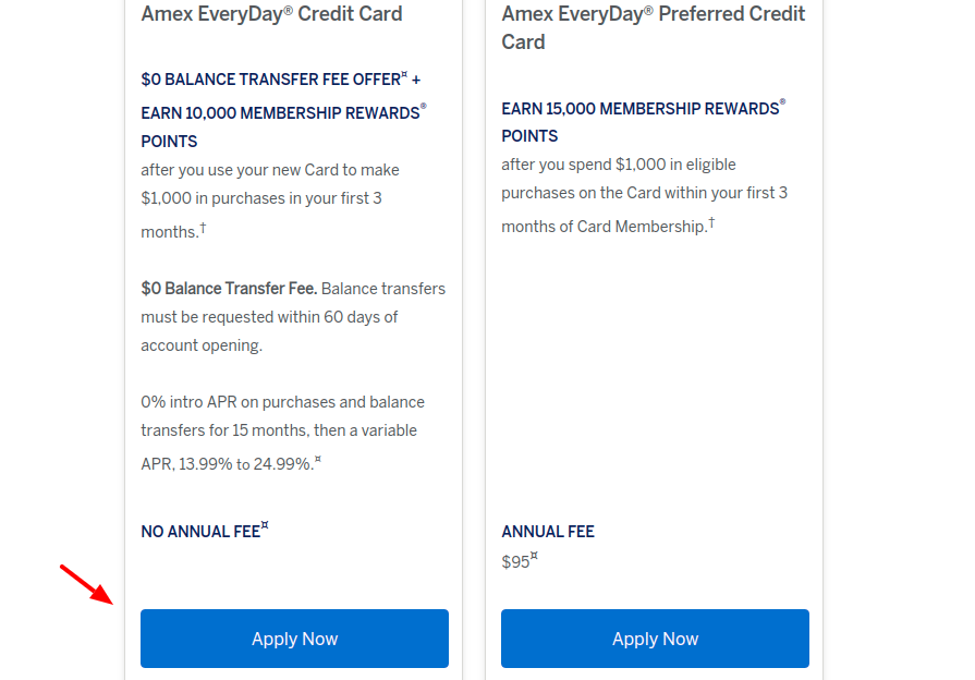 American Express EveryDay Credit Card Apply
