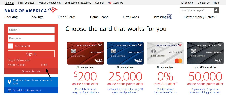 Bank of America Enroll