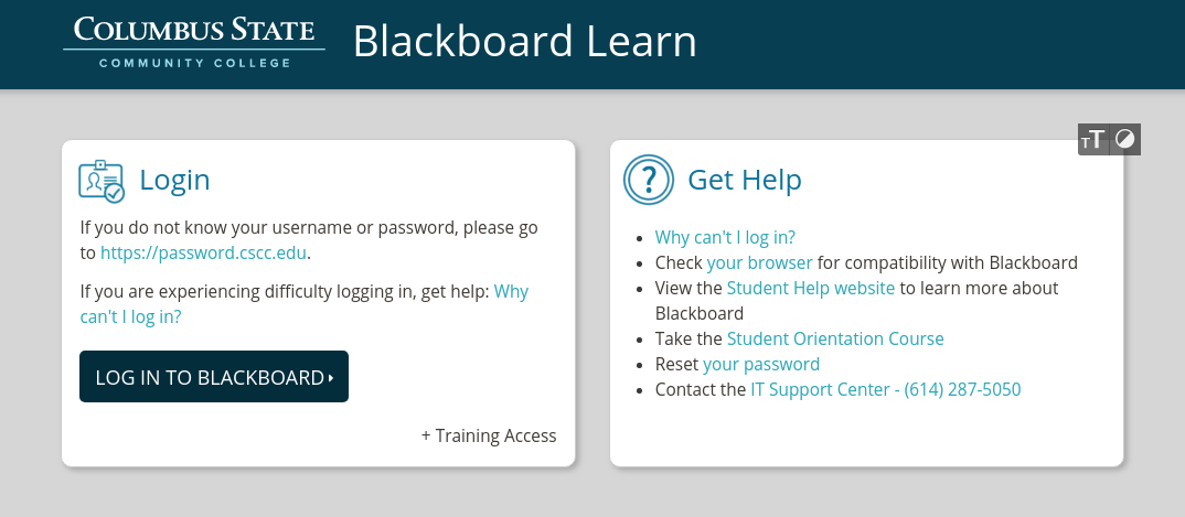 CSCC Blackboard Login