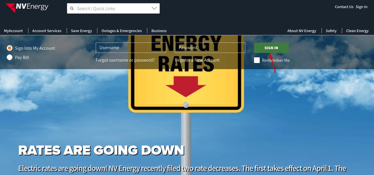 NV Energy Login