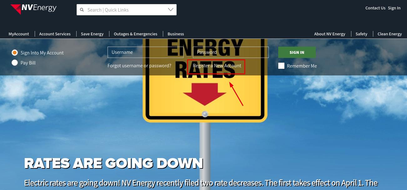 NV Energy Register