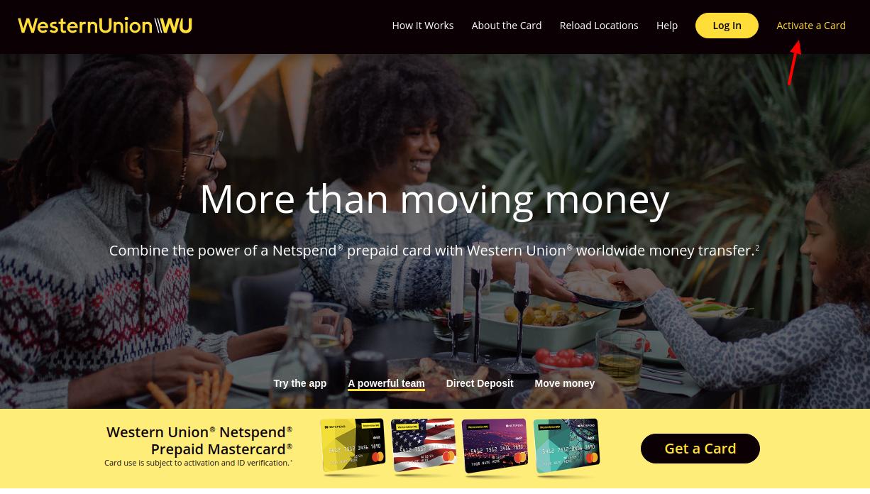 Western Union NetSpend Prepaid MasterCard Activate