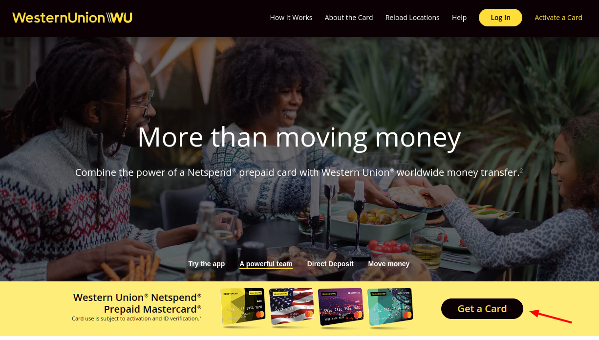 Western Union NetSpend Prepaid MasterCard Get a Card