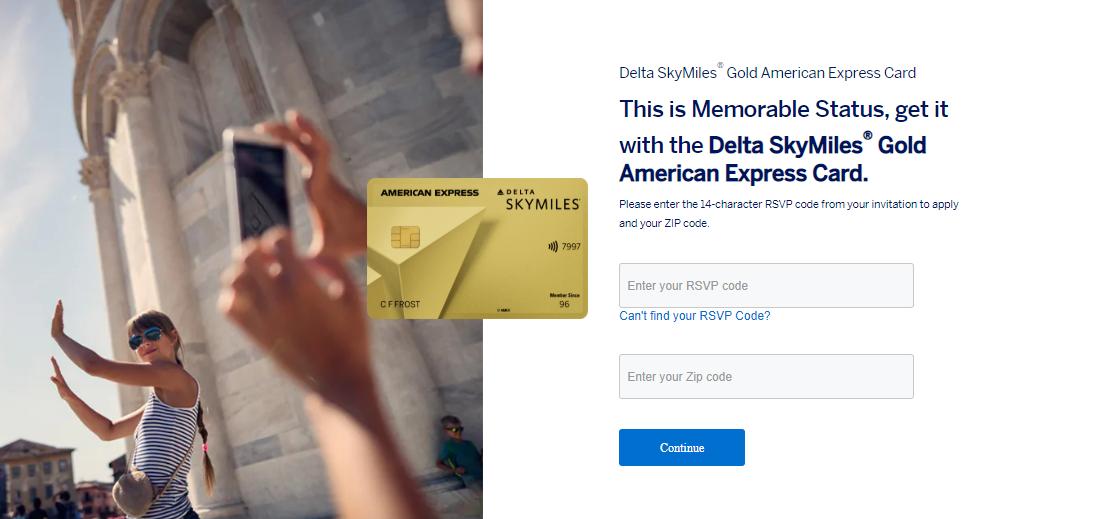 SkyMiles Gold Credit card login