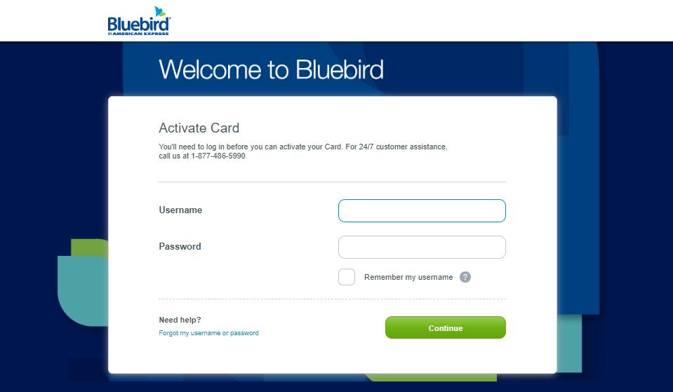 Activate BlueBird Card