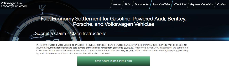 Volkswagen Fuel Economy Class Action Settlement