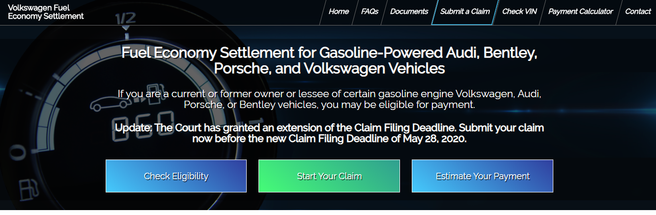 Claim Volkswagen Fuel Economy Class Action Settlement
