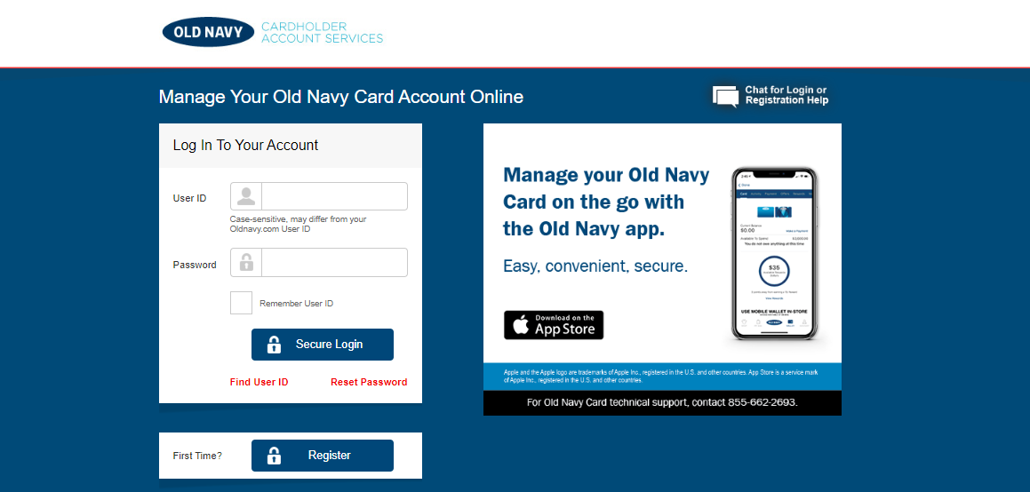 Apply Old Nave Credit Card