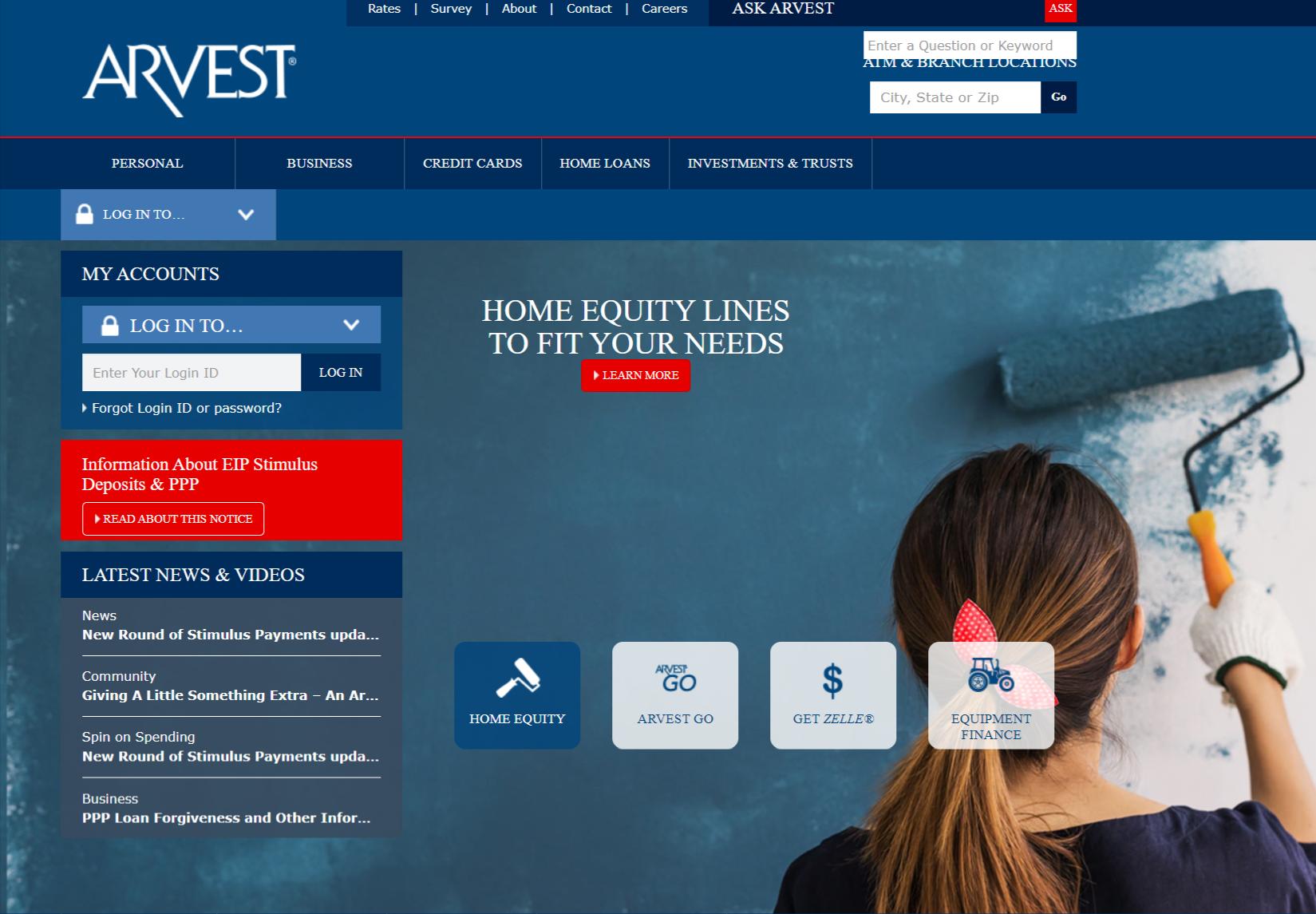 Arvest-Bank Credit card login