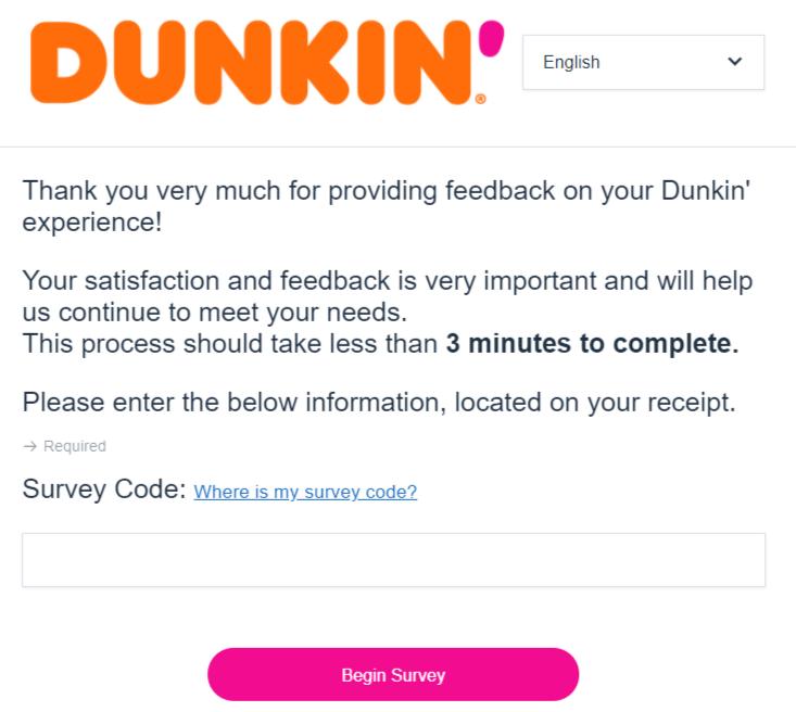 dunkin survey