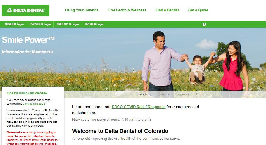 delta dental of colorado employer login